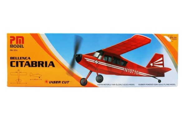 PM 2015 Bellenca Citabria - Rubber Powered Balsa Model Airplane Kit