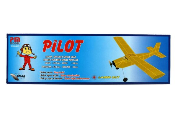 PM 2002 Pilot - Rubber Powered Balsa Model Airplane Kit