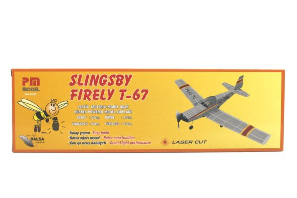 PM 2005 Slingby T67 - Rubber Powered Balsa Model Airplane Kit