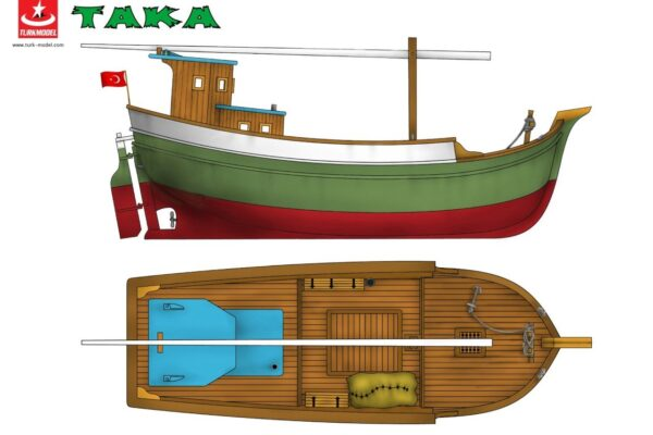 "Turk Model 121 1/35 Blacksea Turkish Boat ""TAKA""- Fishing Boat Wooden Kit"