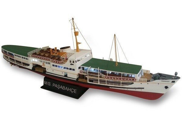 Turk Model 141 1/87 Pasabahce Ferry Boat Wooden Kit