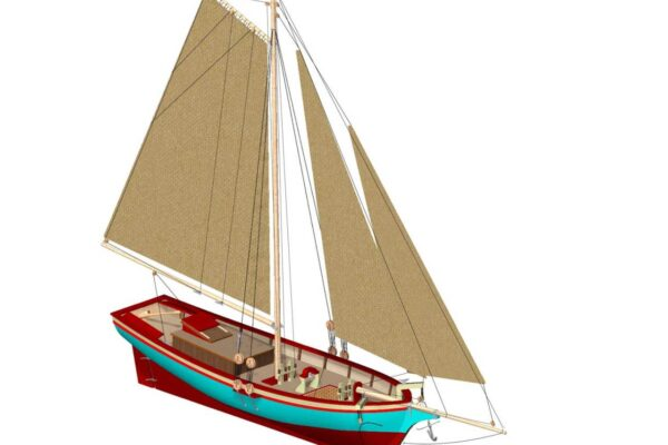 Turk Model 125 1/50 Bosphorus Sailing Boat Wooden Kit