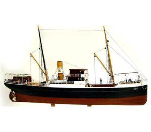 """Turk Model 123 1/87 Turkish Ship """"BANDIRMA""""- Wooden Kit"""